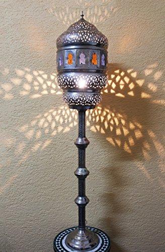 Saharashop Marokkanische Stehlampe Huriya Silber-Multi Groß