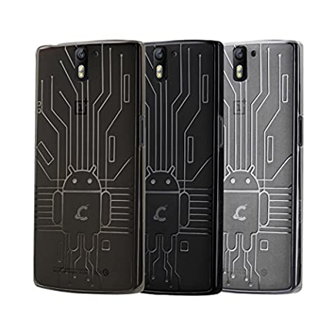 Cruzerlite Bugdroid Circuit Bundle of 3 Smoke/Black/Clear for the OnePlus One