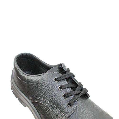 Ergos madrid chaussures de sécurité s1P sRC chaussures berufsschuhe businessschuhe plat chaussures noir Noir - Noir