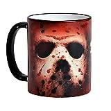 Venerdì 13 Jason Voorhees Maschera tazza di orrore 320ml di Elbenwald rosso in ceramica