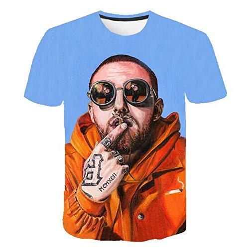 Männer Frühling Sommer Männer T-Shirts 3D Gedruckt Tier t-Shirt Kurzarm Lustige Design Casual Tops Tees Männlich,3D Persönlichkeit kreativ blau XL Wolverine Ridge