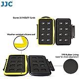 JJC Multi Memory Card Case MC-MSD16 Speicherkarten Schutzbox für 16 Stück MicroSD Cards - extreme Wasserdicht und Stoßfest Box Safe Tasche Etui Aufbewahrungsbox Hülle