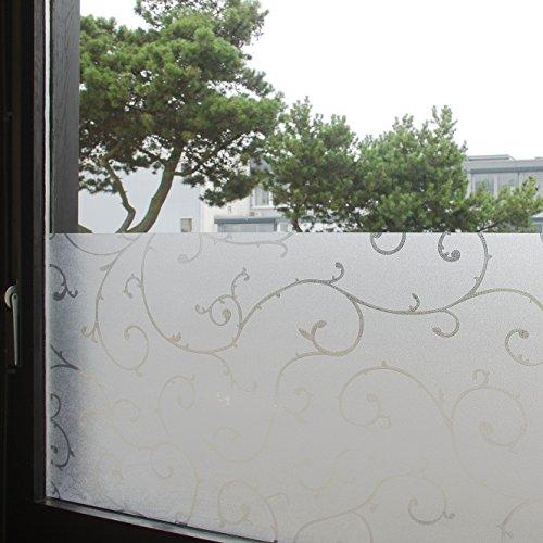 """Tamia-Living Statische Fensterfolie 90% UV-Sonnenschutz Selbsthaftende Sichtschutzfolie Glasdekor """"Rebe"""" S007 (45*200cm)"""