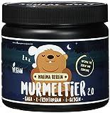 NATÜRLICHER SCHLAF-OPTIMIERER | MALIMA BERLIN MURMELTIER 2.0 | Nahrungsergänzungsmittel für SCHLAF + ERHOLUNG | vegan + hochdosiert