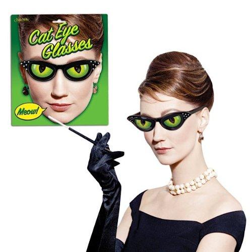 Kostüm Lady Crazy Cat Party - MIK funshopping Spaß-Brille CAT Eye Glasses