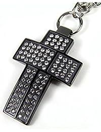 Lotus Style LS1161-1/3 - Cadena de acero inoxidable con colgante de cruz para mujer (60cm)