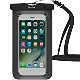 iBarbe Wasserdichte Schutzhülle, Dry Bag Pouch Underwater Cover für Apple iPhone X iPhone 8 iPhone 8 Plus iPhone X iPhone 7 7 Plus 6S 6 6S Plus SE 5S 5 C Galaxy S8 S8 Plus S7 S6 Edge, 1 Pack Black