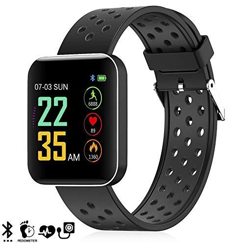 dam. dmz144bk. bracciale intelligente s88 con display ad alta risoluzione, misuratore di pressione sanguigna e notifiche. nero