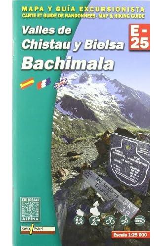 Valles de Chistau y Bielsa. Bachimala, mapa excursionista. Escala 1:25.000. Español, Français, English. Alpina Editorial.