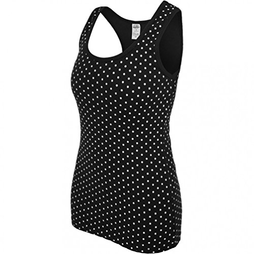 Urban Classics Ladies Dot Top Black / White Grey
