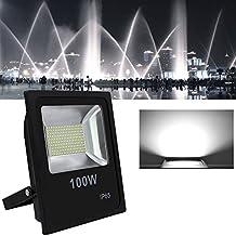 Hengda® LED Foco proyector 100W Blanco frío Exterior LED Resistente al agua Floodlight IP65