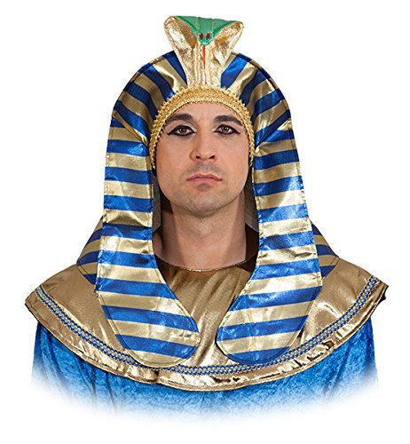 Hut: Pharao Mütze, blau-gold - ()