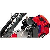 Feuerwehr Einsatzfahrzeug mit Drehleiter und Wasserspritze, 31 cm | Feuerwehrauto Leiterwagen Feuerwehr Lösch Fahrzeug Wasserspritz Licht Sound by H-SDV Test