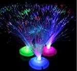 This is a truly amazing accent to any room's decor. Sit back, relax and enjoy the soothing ambient light this lamp creates. It has been described as gentle raining light with the colors of the aurora. Hundreds of twinkling fiber optic strands separat...