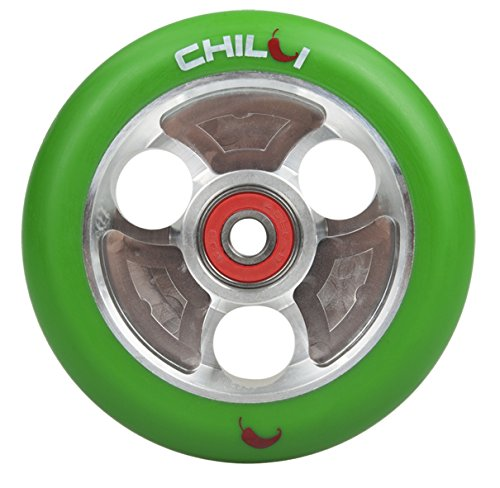 Chilli Parabol Wheel Green Silver 100mm