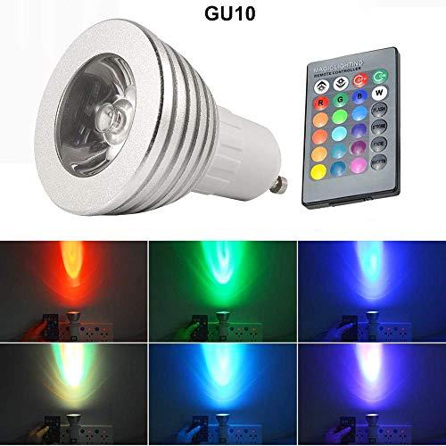 Yigatech GU10 3W 16 Farbe LED RGB Magie Spot Licht Birne Kabellos Fernbedienung Steuerung Drahtlose der magischen Stellenglühlampe Lampe (Wie Gezeigt)