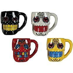 Taza cerámica calavera mexicana