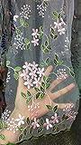 Floral Mesh Organza Spitze bestickt Stoff mit Blattwerk