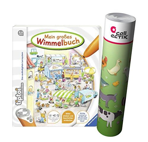 Preisvergleich Produktbild Ravensburger tiptoi ® Mein großes Wimmelbuch + Kinder Tier Poster by Collectix