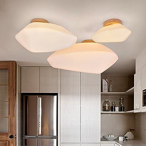 Nordic Creative Terrace Ceiling Lights Glass Cobblestone Shape Ceiling Lighting