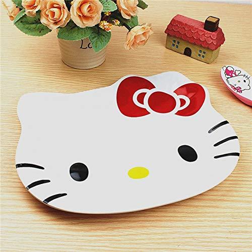 Tyro 1PC Cartoon Hello Kitty Dish Plate Melamine Dinnerware Snack Holder Compote Tray Dish Decoration Plate 2D (Kitty Hello Snacks)