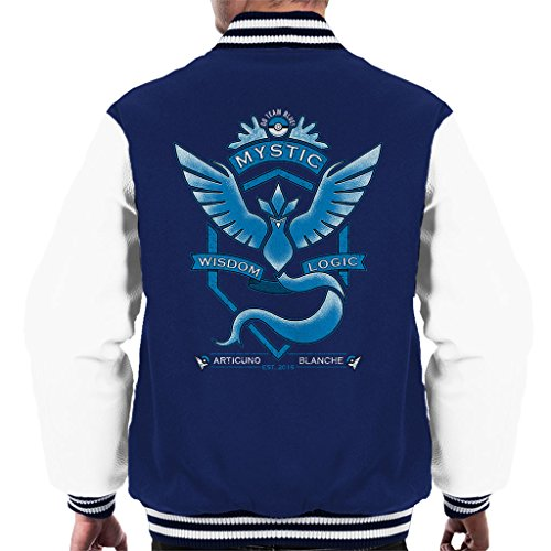 Pokemon Go Team Mystic Crest Men's Varsity Jacket