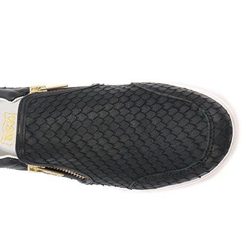Ash Femmes Jordy Python effet cuir formateurs Noir Noir