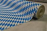50 Meter Lang 100 Cm Breit Farbe: Blau Weiss (Bayrische Raute Blau-Weiß) Tischdecke Papier Damastprägung Tischtuch Papierttischdecke Decke Rolle Papiertischdeckenrolle Papierdecke