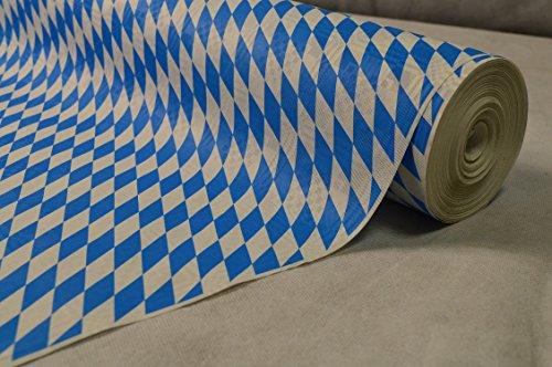 50 Meter Lang 100 Cm Breit Farbe: Blau Weiss (Bayrische Raute Blau-Weiß) Tischdecke Papier...
