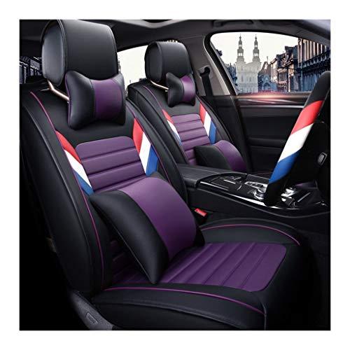 FDHLTR Autositzbezug Anti-Rutsch-Unterlage Leicht zu reinigen Antifouling Dickes Material Four Seasons Protection Cushion Cushion Autositzbezug für die Saison (Color : GB) 500-gb-fusion