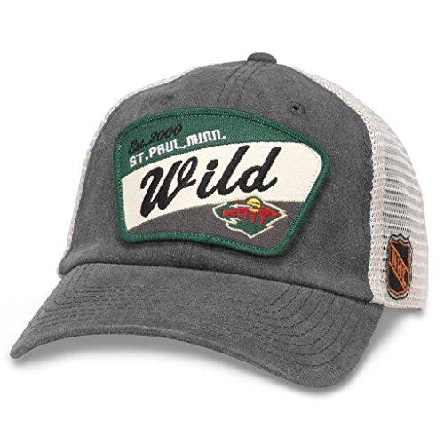 American Nadel Minnesota Wild Erwachsene NHL Ravenswood Verstellbar Hat-Anthrazit, Herren, Anthrazit, Einstellbar -