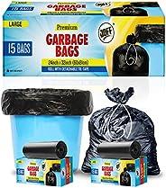 Joff Garbage Bags - 24Inch X 32Inch, 4 Rolls, 60 Bags, Black