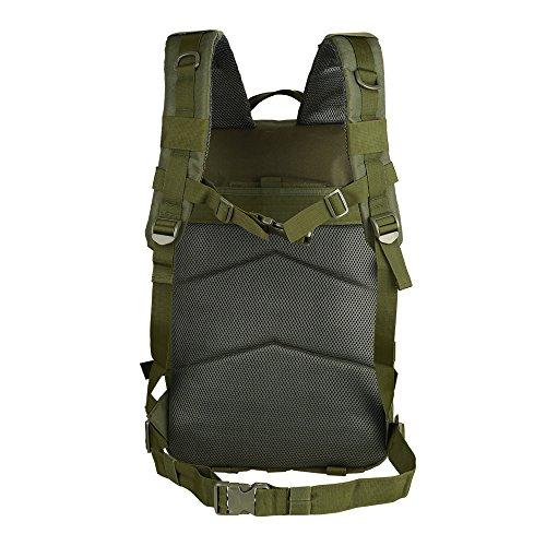 TTLIFE Zaino tattico 45L dello zaino militare esterno di sport di alta qualità che cammina l'escursione del sacchetto di trekking su ordinazione (nero) verde