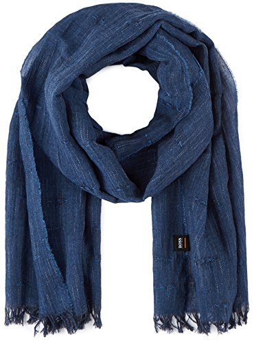 BOSS Herren Schal Nefy, Blau (Dark Blue 404), One size