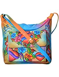 LEATHER MADE Women's Sling Bag (Multi-Coloured, MM0320.01)