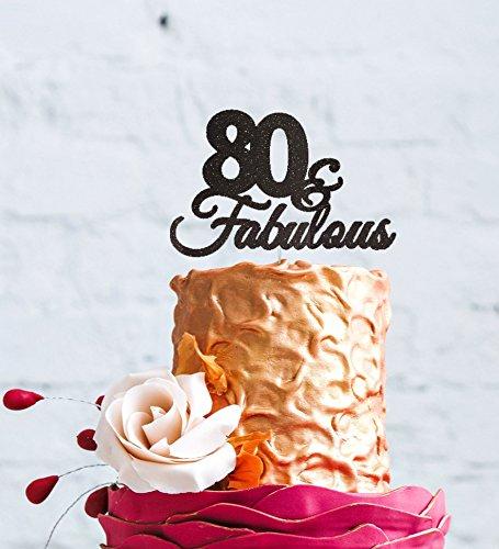 Decorazione Per Torta Di Compleanno 80 Fabulous Per Gli 80 T9a