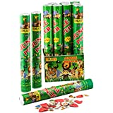 Enjoy Jungle Poppers 40cm Long for Birthday Party/Anniversary Party/Celebration Any Occasions (Pack of 3)