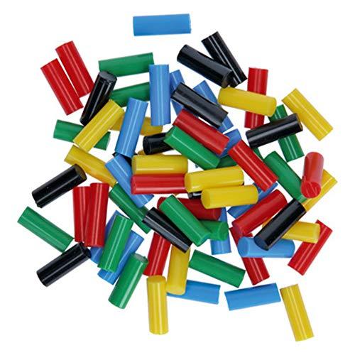 Bosch 2608002005 Mini Sticks 70tlg. (Farbige Klebesticks, Zubehör für Heißklebestift Gluey)