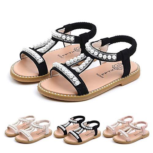 Sandalen Kinder Sommer Schuhe Baby Mädchen Kristall Strand Sandaletten Kleinkind Lauflernschuhe Prinzessin Roman Schuhe OSYARD(1.5-6 Jahre)
