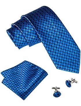 Barry. Wang novedad Gemelos de seda corbata Set pañuelo para hombre woven
