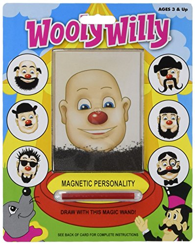 Wooly Willie. Classic toy with iron filings. Draw with the magic wand!