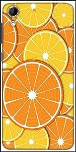Snoogg Orange Fever 2372 Designer Protective Back Case Cover For HTC Desire 728