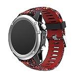 JiaMeng paraGarmin Fenix 3 GPS Watch,Banda de Reloj de Silicona Suave reemplazo Correa de Silicona...