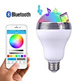 GBATERI Haut-parleur Bluetooth Ampoule LED Smart Led Light E27 ampoule Avec haut-parleur Multi Changing Lights Led ampoule ampoule de musique Dancing LED Light Application Smartphone contrôlée via Apple iPhone Dispositifs Android pour maison, bureau, petites parties
