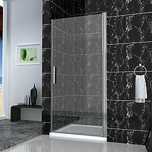 900 x 1100 mm cabine de douche avec porte-écran pivotant sans bac