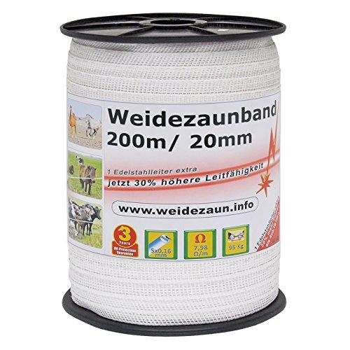 VOSS.farming NEU: Sparpack - Weidezaunband mit 30% mehr Leitfähigkeit - insgesamt 800m + Elektro-Zaun-Band-Zubehör - 2