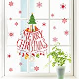 Merry Christmas Xmas Tree Wall Decal Door Windows Corridor Living Room Bedroom Decor Adult Teens Boy Kids Children Baby Room Nursery Removable Wall Sticker Art Murals Wallpaper Poster