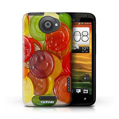 Kobalt® Imprimé Etui / Coque pour HTC One X / Jelly Beans conception / Série Bonbons Jelly Faces