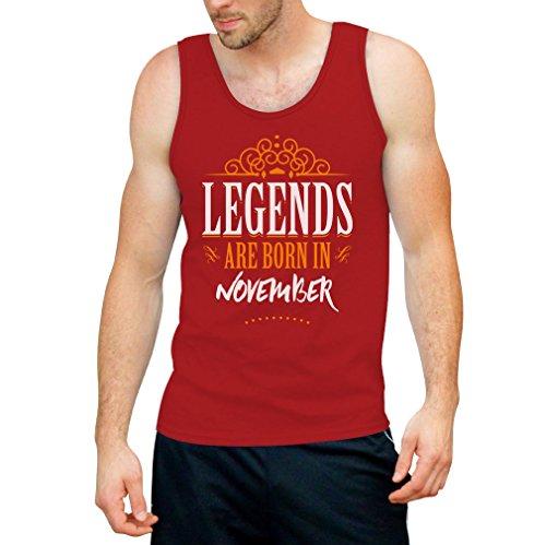 Legends are born in November - Geschenke Tank Top Rot