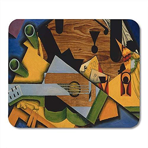 Alfombrillas de ratón Bodegón Guitarra de Juan Gris 1913 Pintura cubista española Óleo sobre lienzo Este trabajo es fuertemente alfombrilla para computadora portátil,computadoras de escritorio Sumini